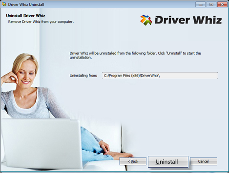 "click ""Uninstall"" to remove Driver Whiz from the Program Files"