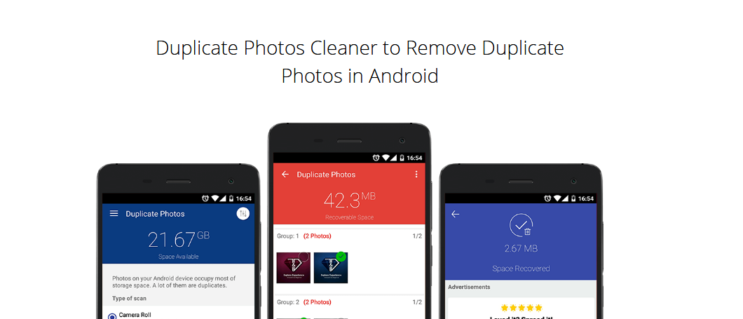 Duplicate Photos Cleaner to remove duplicate photos in android