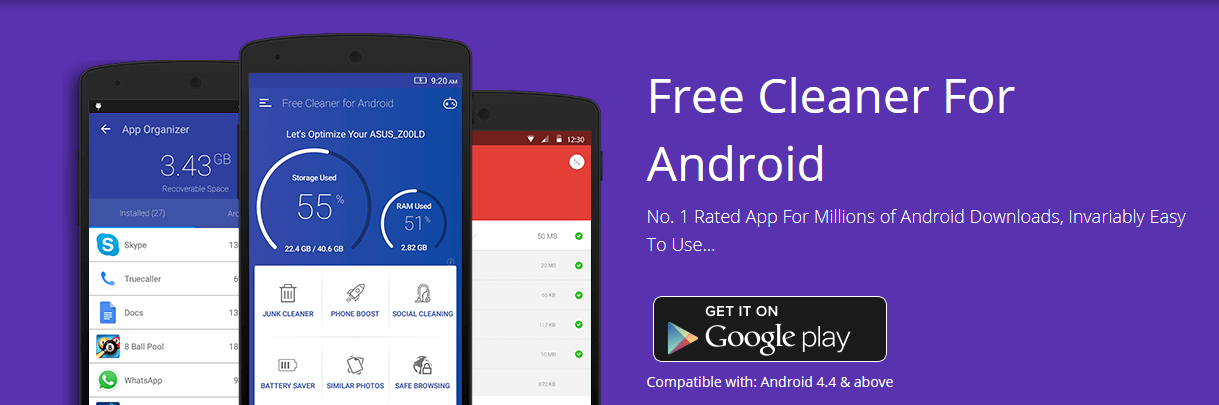 Free Cleaner for Android - Best App to Boost Memory & Performance