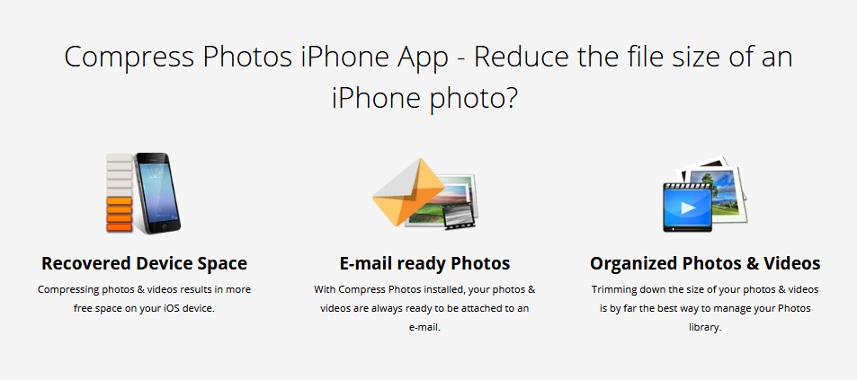 How do I reduce the file size of an iPhone photo