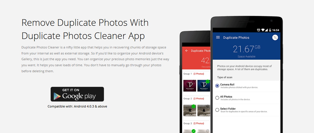 Remove Duplicate Photos With Duplicate Photos Cleaner app