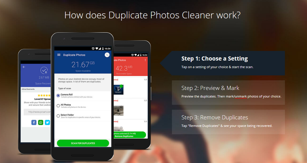 Delete duplicate photos on android
