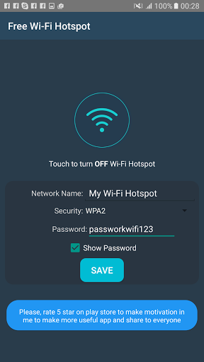 Free portable wifi hotspot for android